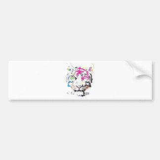 Rainbow Tiger Bumper Sticker