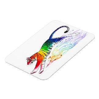 """""""Rainbow Tiger"""" Jumbo Magnet"""