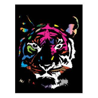 Rainbow Tiger Postcard