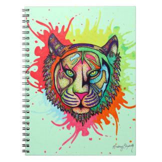 Rainbow Tiger Spiral Notebook