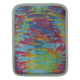 Rainbow Tiger Stripe Tie Dye Sleeve For iPads