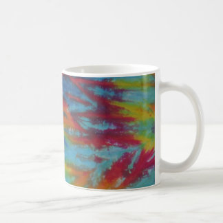 Rainbow Tiger Stripes Tie Dye PhatDyes Coffee Mug