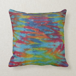 Rainbow Tiger Stripes Tie Dye Pillow