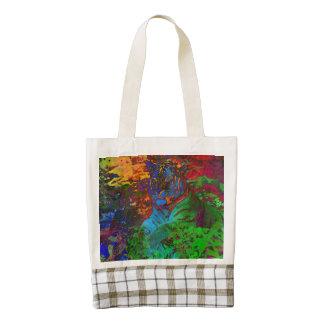 Rainbow Tiger Zazzle HEART Tote Bag