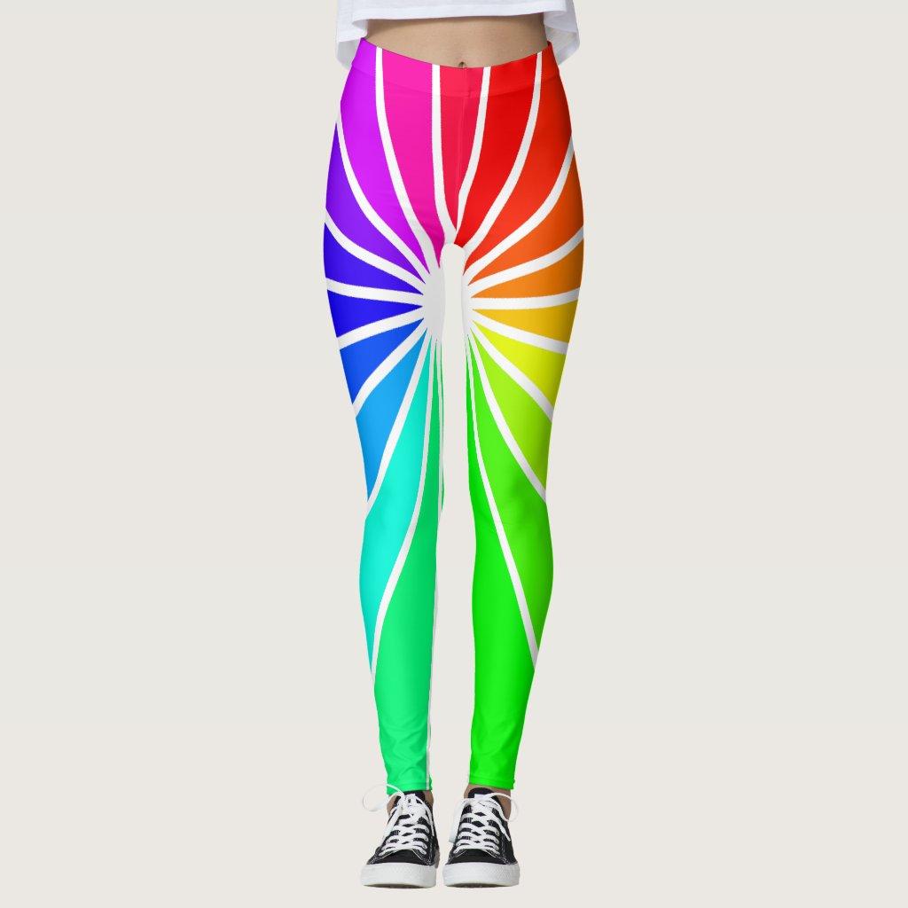 Rainbow Tights Fashion Snow Ski Brights