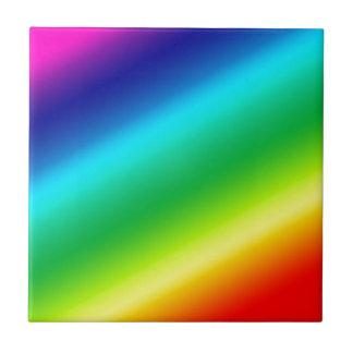 Rainbow Small Square Tile