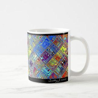 Rainbow Tile Art #7 © 2010 S.J. Coffee Mug