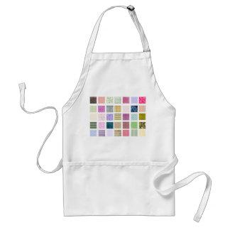Rainbow tiled squares pattern adult apron