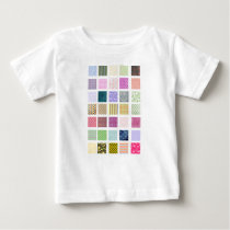 Rainbow tiled squares pattern baby T-Shirt