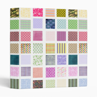 Rainbow tiled squares pattern binder