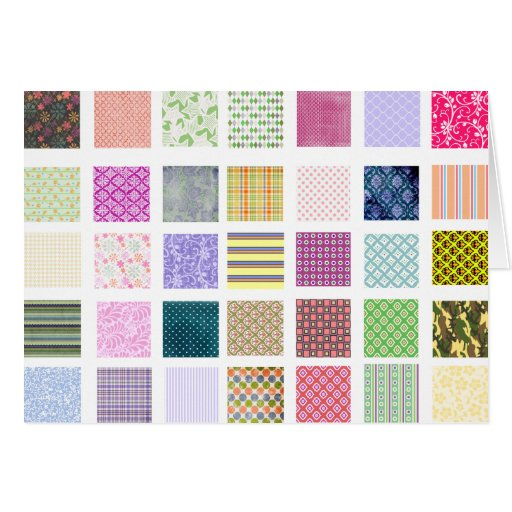 Rainbow tiled squares pattern card