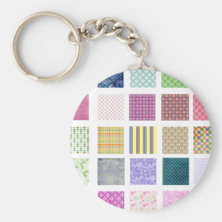 Rainbow tiled squares pattern key chain