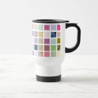 Rainbow tiled squares pattern coffee mugs