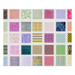 Rainbow tiled squares pattern print