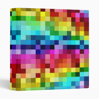Rainbow Tiles 3 Ring Binder