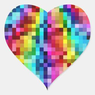 Rainbow Tiles Heart Sticker