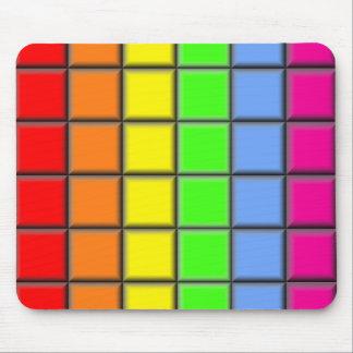 Rainbow Tiles Mouse Pad