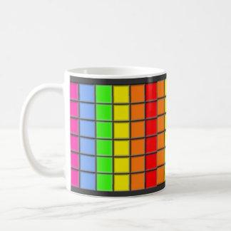 Rainbow Tiles Classic White Coffee Mug