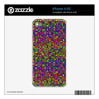 Rainbow Tiles Skin For The iPhone 4S
