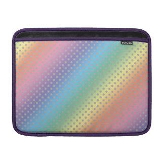 rainbow tiny gray polka dots MacBook sleeves