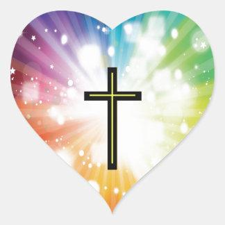 Rainbow to infinity. heart sticker