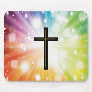 Rainbow to infinity. mouse pad