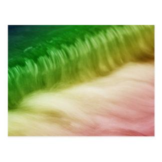 Rainbow toilets postcard