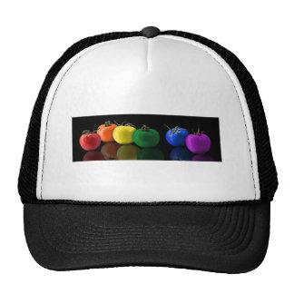 RAINBOW TOMATOES COLORFUL DIGITAL ART WALLPAPER BL TRUCKER HAT