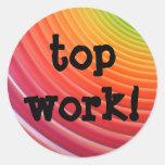 Rainbow top work stickers