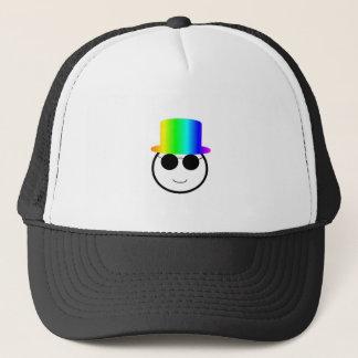Rainbow Tophat Trucker Hat