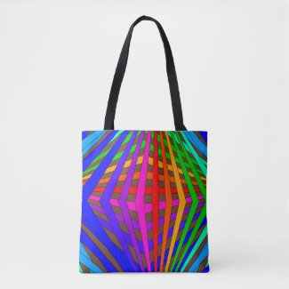 Rainbow Tote Bags Geometric PRIDE Diversity Artsy