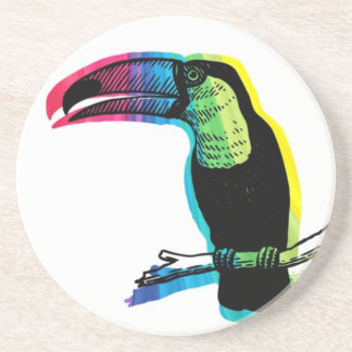 Rainbow Toucan Drink Coaster