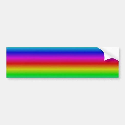 Rainbow touched bumper sticker