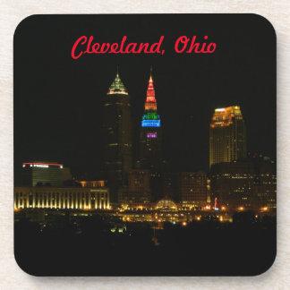 Rainbow Tower Cleveland Ohio Drink Coaster