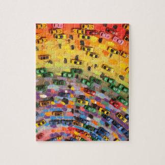 Rainbow Toy Cars Jigsaw Puzzle