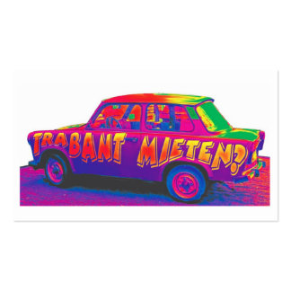 Rainbow Trabant Car, White Back Double-Sided Standard Business Cards (Pack Of 100)