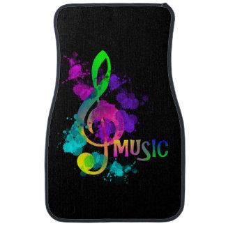 Rainbow Treble Clef Music Themed Car Floor Mat