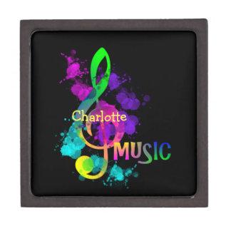 Rainbow Treble Clef Music Themed Keepsake Box