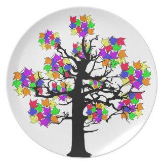 Rainbow Tree Dinner Plate