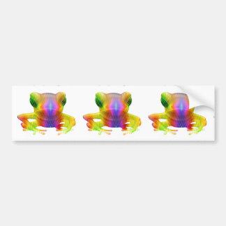 Rainbow Tree Frog Bumper Sticker