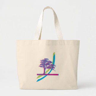 Rainbow Tree Jumbo Tote Bag