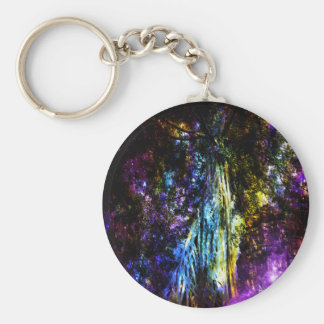 Rainbow Tree Keychain