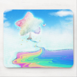 Rainbow tree mousepad mouse pad