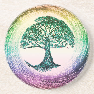 Rainbow Tree of Life by Amelia Carrie Coasters