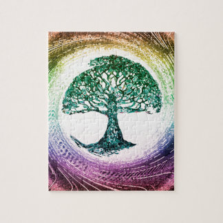 Rainbow Tree of Life by Amelia Carrie Jigsaw Puzzle