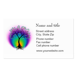 Rainbow Tree of Life Connect with Your Customer Double-Sided Standard Business Cards (Pack Of 100)