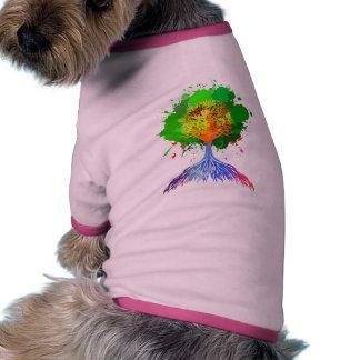 Rainbow Tree of Life Dog Clothes