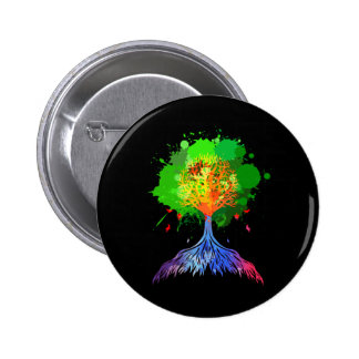 Rainbow Tree of Life Pinback Buttons