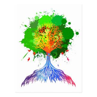 Rainbow Tree of Life Post Card