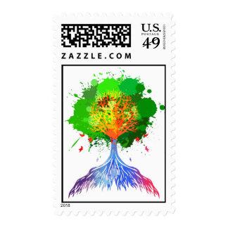 Rainbow Tree of LIfe Stamps